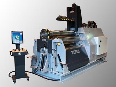 SweBend PB4 vier Rollen Blechrundbiegemaschine mit SEVEN CNC Steuerung