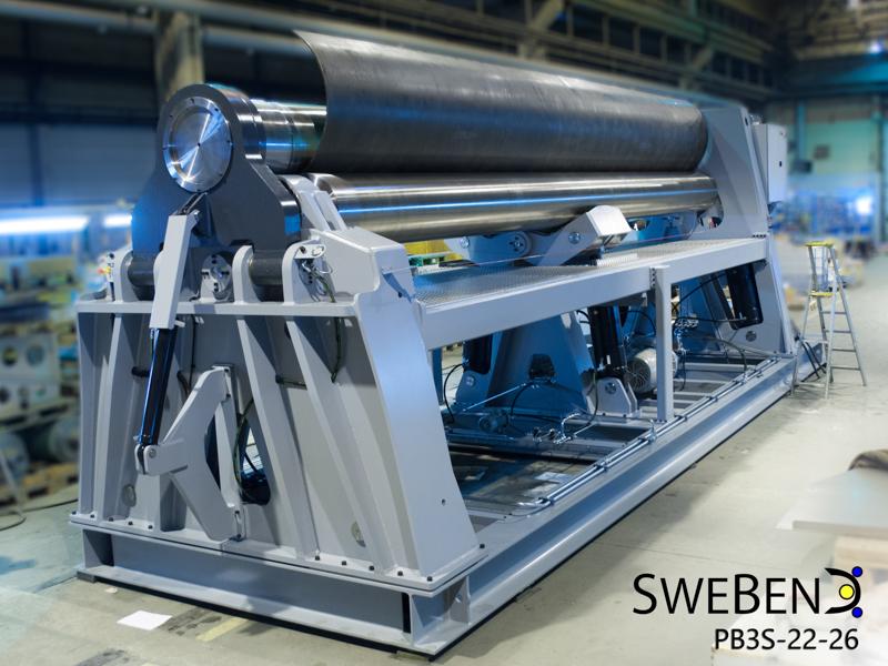 Venema-Biegetec GmbH | SweBend AB | Blechrundbiegemaschine | drei Walzen | Bluetooth Steuerung