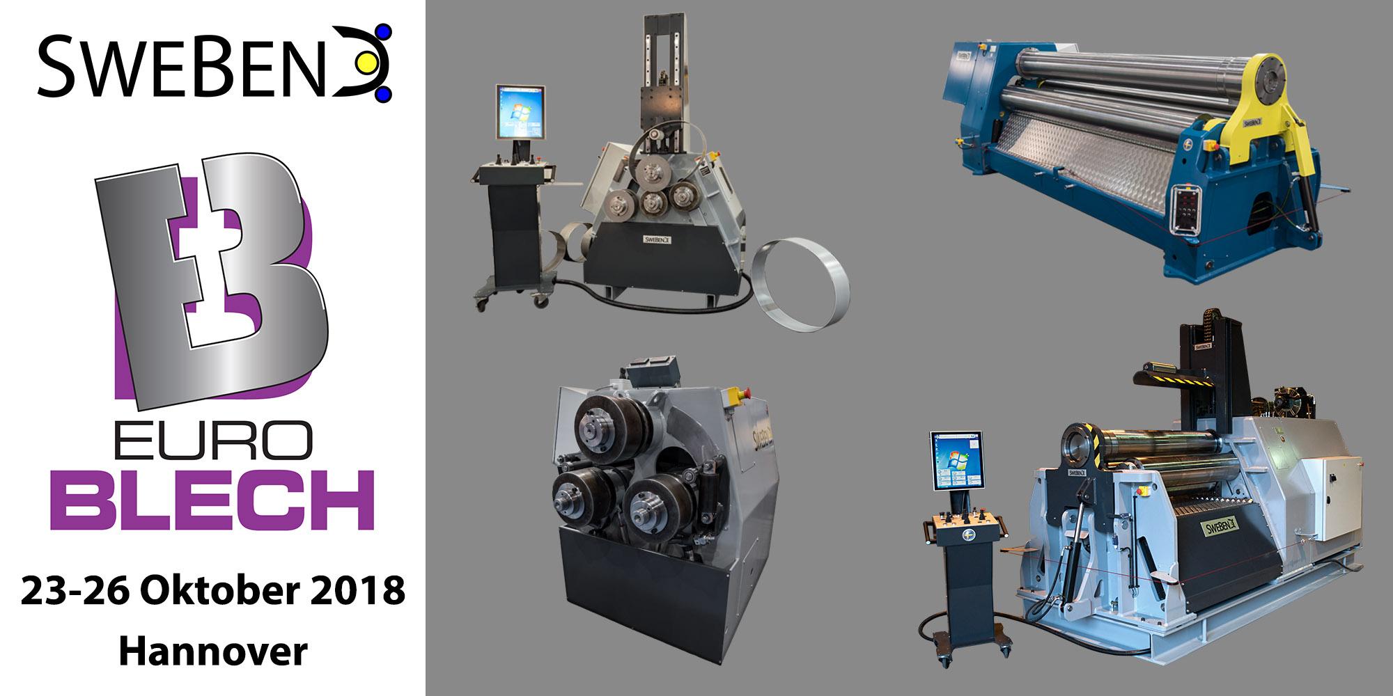Venema-Biegetec GmbH | SweBend AB | Profilbiegemaschine | Blechrundbiegemaschine | SEVEN CNC Steuerung | EuroBlech Hannover 2018