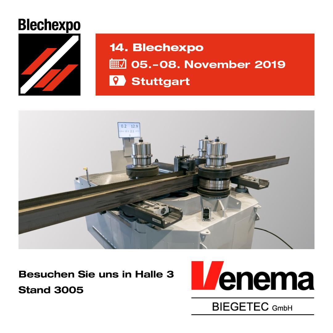 Venema Biegetec GmbH | Blechexpo 2019 | SweBend AB | Blechrundbiegemaschinen | Profilbiegemaschinen | CNC Seven Steuerung